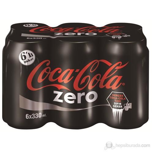 Coca-Cola Zero Kutu 6X330 Ml