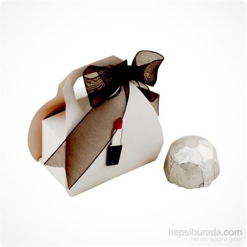 ChocChic Ruj Dekorlu Çanta Kutu (25 adet)