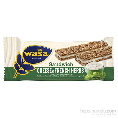 Wasa French Herbs / Baharatlı Ve Krem Peynirli Sandviç