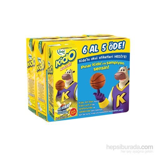 Pınar Kido Süt Muzlu 6 'lı x 200 ml (6 Al 5 Öde)