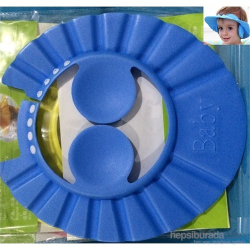 Hepsi Dahice Kulak Korumalı Ayarlanabilir Düğmeli Bebek Banyo Şapkası