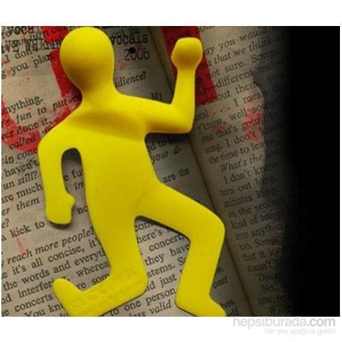 Hepsi Dahice Ezilmiş Adam Şeklinde Kitap Ayracı