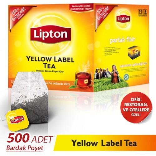 Lipton Yellow Label 2 gr x 500 'lü Bardak Poşet Çay