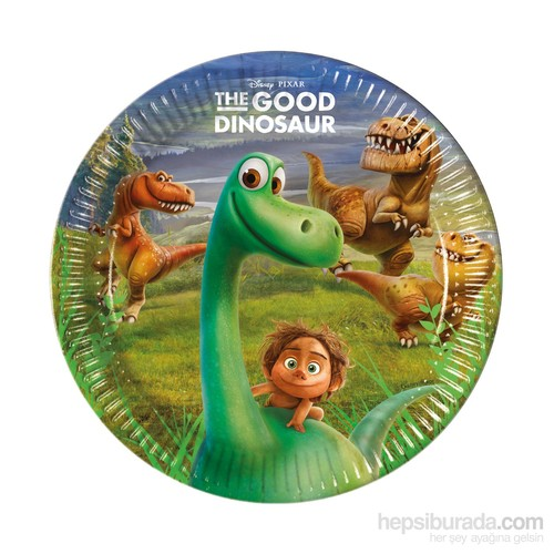 KullanAtMarket The Good Dinosaur Kağıt Tabak 23Cm 8 Adet
