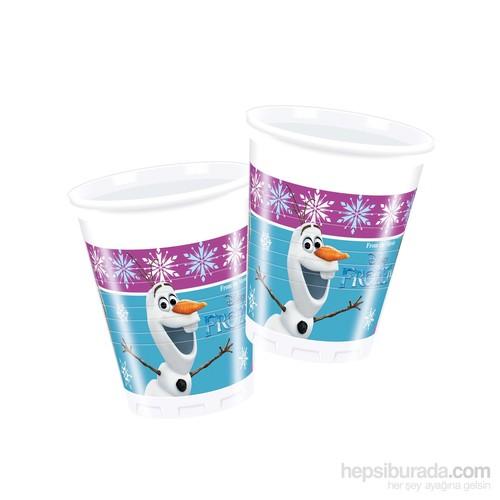 KullanAtMarket Frozen Buz Işıltısı Plastik Bardak 200Cc 8 Adet