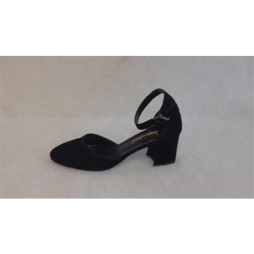 Shop and Shoes 174-350 Siyah Süet Kadın Sandalet