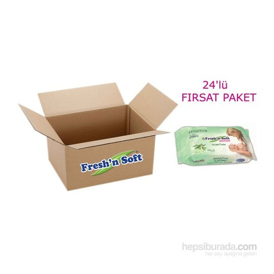 Fresh'n Soft Premium Sensitive Islak Bebek Havlusu - 24 Lü Paket