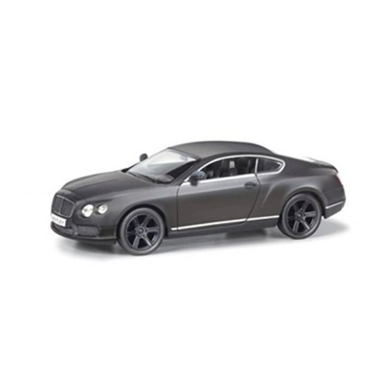 Rmz City Die Cast 1:32 Bentley Continental Gt V8 Matte Black Edition