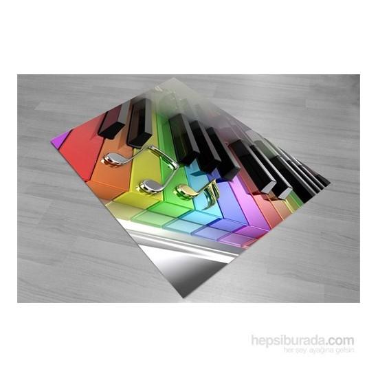 Jungle Piyano Çocuk Odası Halısı 133x190 cm