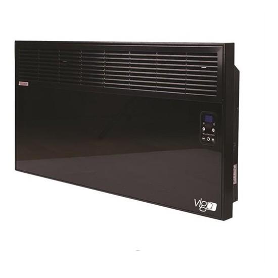 Vigo Elektrikli Panel Konvektör Isıtıcı Dijital 2000 Watt Camlı Epk4590e20c