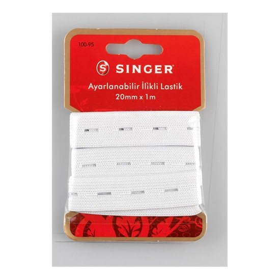 Singer 100-95 Ayarlanabilir İlikli Lastik (20 mm x 1 m)