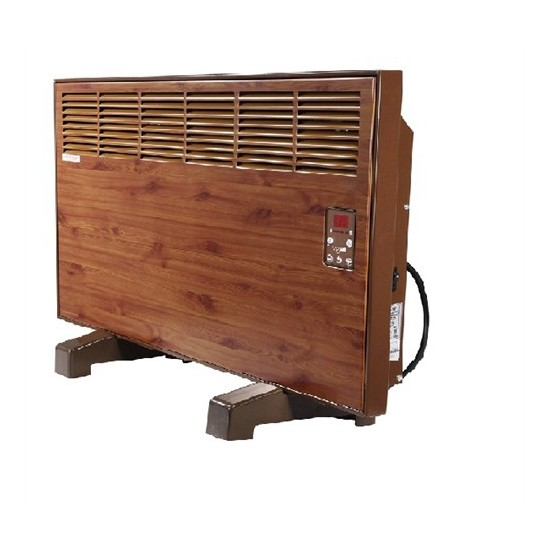 Vigo Elektrikli Panel Konvektör Isıtıcı Dijital 2500 Watt Ahşap Epk4590e25a