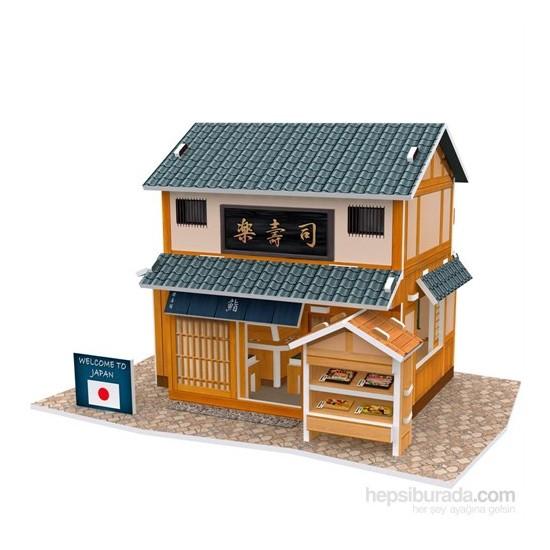 Cubic Fun 3D 32 Parça Puzzle Japon Sushi Restaurantı