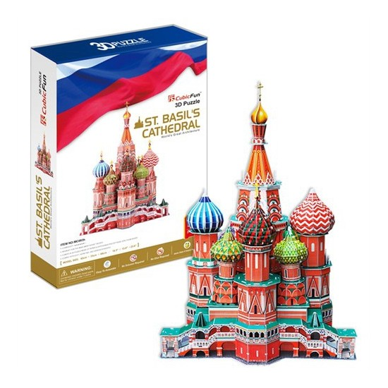 Cubic Fun Puzzle St. Basil's Cathedral (3 Boyutlu)