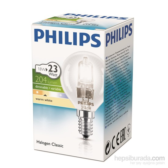 Philips Ecoclassic 18W Ampul E14 230V P45 1Ct/15 Srp