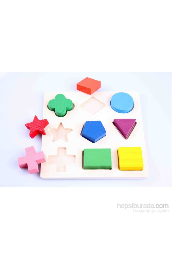 Geometrical Shape Building Blocks Wooden Toys