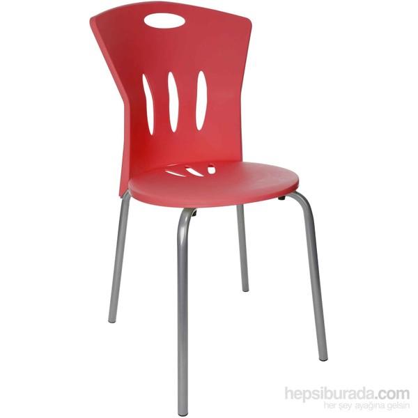 hepsiburada home kırmızı sandalye
