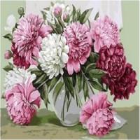 Art Liva Buket Çiçek Sayılarla Boyama Tuval Hobi Seti 40 x 50 cm