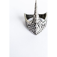 Takı & Aksesuar Gümüş Kaplama Antik Eskitme Ayarlanabilir Özel Tasarım Ertuğrul Okçu Zihgir Yüzüğü