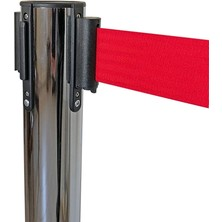 Guard Spirit Özel Fren Sistemli Tekli Kırmızı Kromajlı Yönlendirme Şerit Bariyer BP-35C
