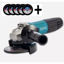 Assur Professionel 125MM 2600W Sq-Line Avuç Içi Taşlama Spiral 5 Adet Inoks