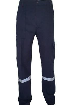 Feyza Mavi Iş Pantolonu Erkek Iş Elbisesi Reflektörlü