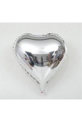 Pazariz Kalp Balon Folyo Gümüş