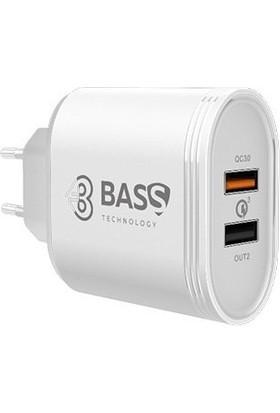Bass 3.0 5.4A 2 Port Hızlı Şarj Adaptörü