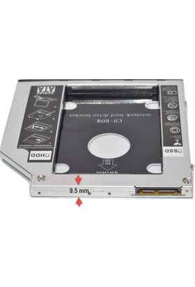 Brs Sata 9.5 mm SSD Harddisk Kutusu Kızak