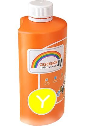 Cescesor Epson L850 Için T6734 Uyumlu Sarı Mürekkep 500GR Claria Cescesor