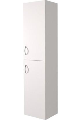 Banos BD1 Ayaksız 2 Kapaklı Beyaz 155 x 35 cm Banyo Boy Dolabı