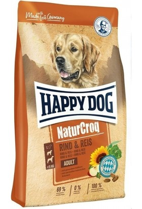 Happy Dog Naturcroq Rind Biftekli Yetişkin Köpek Maması 15KG