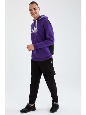 DeFacto NBA Lisanslı Regular Fit Los Angeles Lakers Baskılı Pamuklu Jogger Eşofman Altı U9846AZ21AU