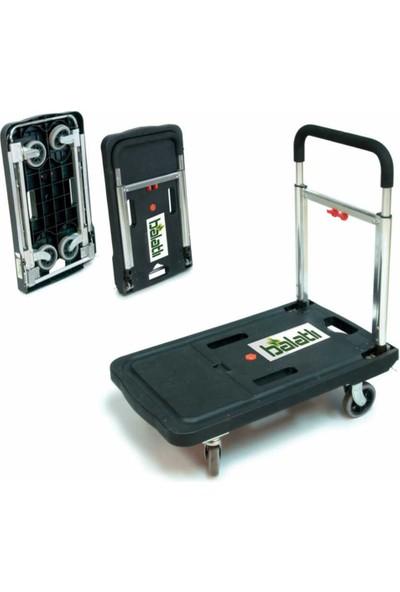 Balatlı 150 kg Katlanabilir Portatif Taşıma Arabası