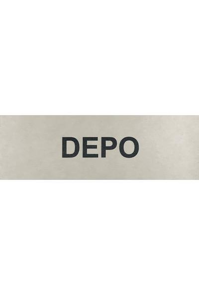 Se-Dizayn Depo Kapı Yönlendirme Tabelası 5 cm x 15 cm Alüminyum