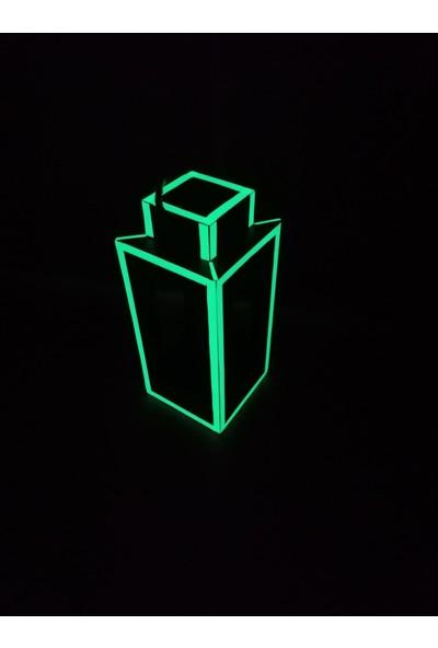 Bahattedarik Ahşap Fosforlu Karanlıkta Parlayan Fener Mumluk Saksılık
