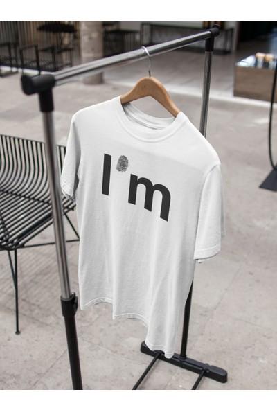 Grif I'm Baskılı Oversize Erkek T-Shirt