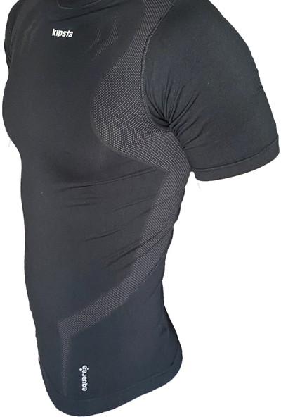 Kipsta Siyah Termal Üst Tayt Kısa Kol Bisiklet Fitness Tişört