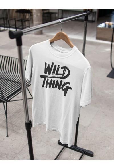 Grif Wild Thing Baskılı Oversize Erkek T-Shirt