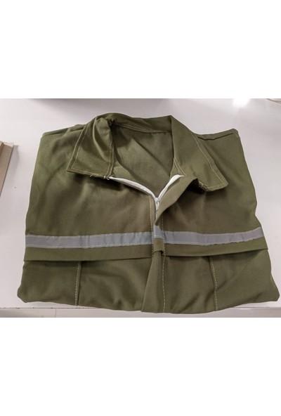 Feyza Uzun Kollu Gabardin Iş Tulumu Erkek / Bayan Yeşil Renk