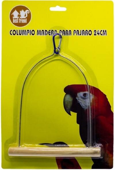 Best Friend Papağanlar Için Ahşap Tünekli Salıncak 24 cm