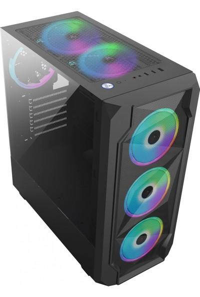 Gameforce GF-8010 Cold 4X120MM Sese Duyarlı A-Rgb Kumanda ve Kontrolcü Fanlı Oyuncu Kasası