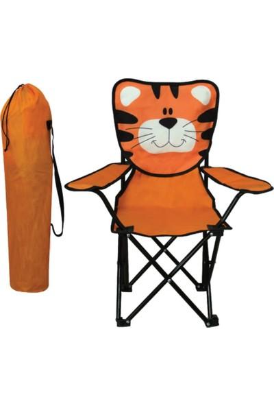 Touch Me Çocuk Kamp Sandalyesi Aslan Figürlü