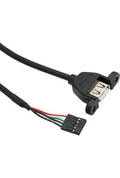 USB Uzatma Kablosu Panel Montajlı Anakart Jumper Soketli 50CM
