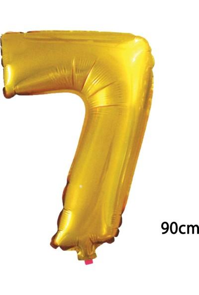 Pazariz 90 cm 7 Rakamı Folyo Balon Altın