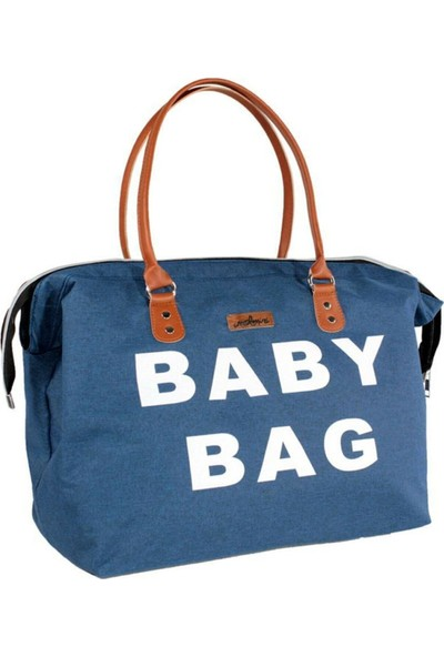 Molmini Baby Bag Çanta Keten Mavi