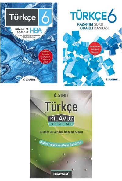 Tudem 6. Sınıf Türkçe Konu Anlatımı Soru Bankası ve Deneme Seti