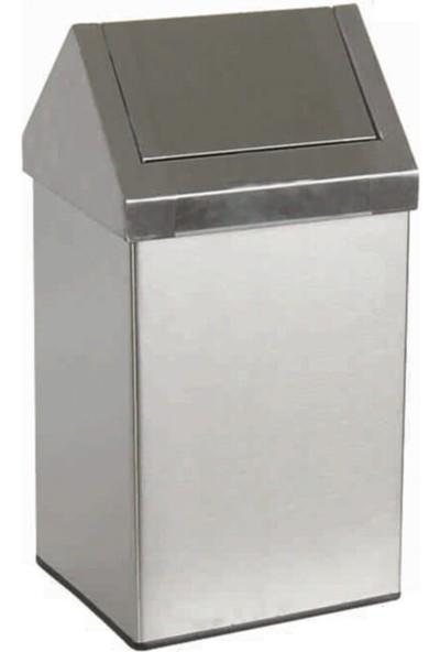 Arımetal Çatı Kapaklı Paslanmaz Çöp Kovası 36 Litre