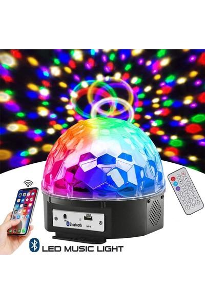 Sendealgelsin Led Işıklı Bluetooth Özellikli Disko Topu USB Bellek Girişli Hoparlör