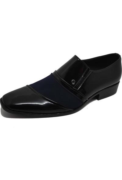 Erdal Deri Erkek Rugan Klasik Ayakkabı - Lacivert - 40